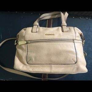 Calvin Klein Nude Leather Handbag